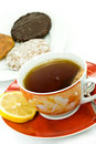 Free A Cup Of Red Tea With Mixed Cookies Stock Photos - 6304123