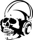 Free Skull And Headphones Royalty Free Stock Photography - 6306187