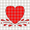 Free Heart In Tile Pattern Royalty Free Stock Photography - 6309287