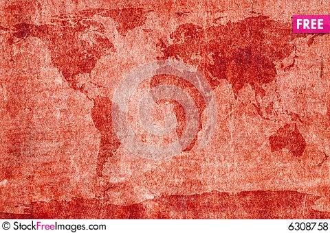 Free Aged World Map Royalty Free Stock Photos - 6308758