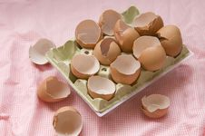 Twelve Broken Eggs After Royalty Free Stock Photos