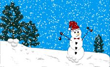 Decorated Snowman Royalty Free Stock Photos