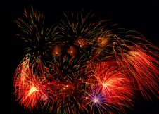 Free Fireworks On Black Stock Photography - 6300642