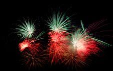 Free Fireworks On Black Royalty Free Stock Photos - 6300658