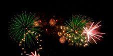 Free Fireworks On Black Stock Images - 6300714