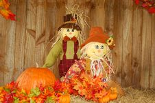 Free Scarecrow Pair. Royalty Free Stock Photography - 6302357