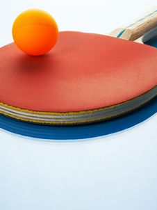 Free Tennis Racket And Orange Ball Stock Photography - 6303072