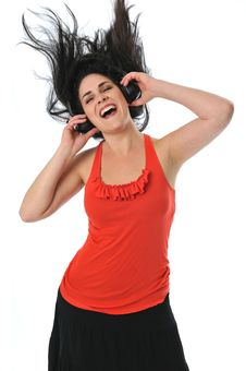 Free Young Woman With Headphones Stock Image - 6303431
