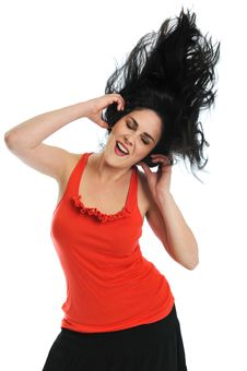 Free Young Woman With Headphones Royalty Free Stock Photography - 6303447