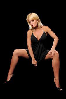 Beautiful Fashion Blond Stock Photography