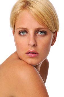 Beautiful Blond Model Stock Photo