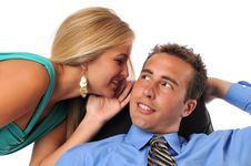 Businessman And Woman Royalty Free Stock Photo
