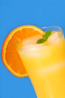 Free Orange Juice With Mint Royalty Free Stock Photos - 6304268