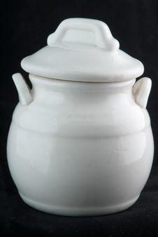 Little China Pot Royalty Free Stock Photo