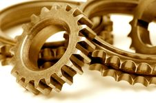 Free Golden Gears Stock Photography - 6306152