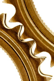 Free Golden Gears Close Up Royalty Free Stock Images - 6306229