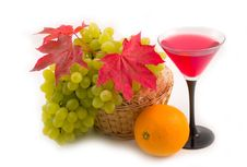 Free Maple Leaves With Fruit Stock Images - 6306324