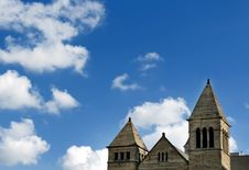 Free Top Of A Church On A Bright Blue Sky Stock Image - 6306551