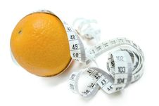 Free Orange With Measuring Tape Royalty Free Stock Image - 6306556