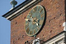 Free City Hall Clock Stock Image - 6306821