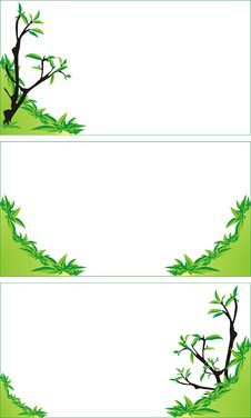 Free Trees And Bushes. Background For Business Cards Royalty Free Stock Photography - 6307167
