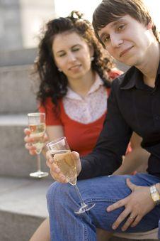 Free Happy Couple Celebrating Royalty Free Stock Image - 6307296