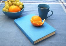 Free Blue Book And Fruit Royalty Free Stock Images - 6307399