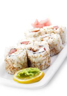 Free Japanese Cuisine - Rolls In Sesame Stock Photos - 6307973