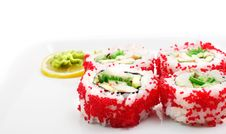 Japanese Cuisine - Rolls In Caviar Stock Images