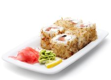 Japanese Cuisine - Hot Rolls Royalty Free Stock Images