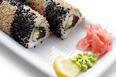 Free Japanese Cuisine - Rolls With Sesame Stock Images - 6308064