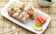 Free Japanese Cuisine - Roll In Bacon Royalty Free Stock Photo - 6308095