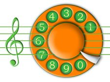 Dial And Music Stock Images