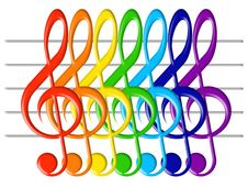 Free Treble Clefs Royalty Free Stock Photo - 6308285