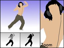 Free Dancing Male With Headset Royalty Free Stock Images - 6308429