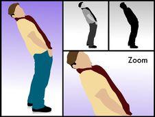 Free Man Bending His Body Royalty Free Stock Image - 6308446