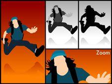 Free Casual Man Jumping In Air Royalty Free Stock Photos - 6308468