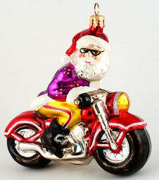 Free Santa On Bike Stock Images - 6308484