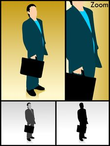Free Successful Businessman With Bag Royalty Free Stock Image - 6308536