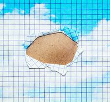 Free Abstract Hole In A Paper Sheet Royalty Free Stock Image - 6308616