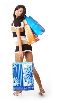 Free Beautiful Woman With Shopping Bag Stock Photos - 6308623