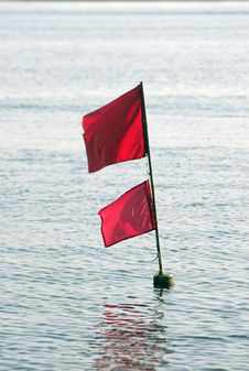 Fishing Net Flag Stock Photo