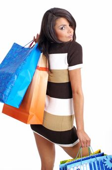 Free Woman With Shopping Bag Royalty Free Stock Images - 6308799