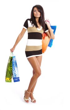 Free Woman With Shopping Bag Stock Photos - 6308833