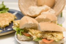 Free An Spanish Omelet Sandwich With Potatoes Royalty Free Stock Images - 6309169