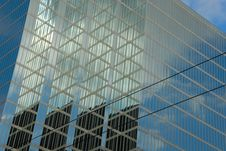 Office Buildings With Reflections Stock Photography