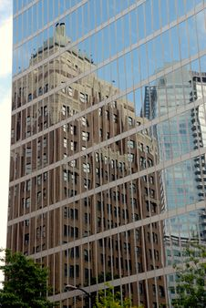 Office Buildings With Reflections Royalty Free Stock Photo