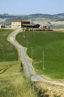 Free TUSCANY FARM WHIT ROAD Stock Images - 6309434