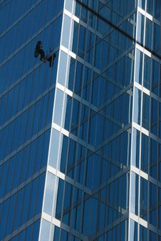 Free Office Buildings With Window Cleaner Stock Image - 6309511