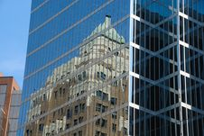 Office Buildings With Reflections Royalty Free Stock Photography